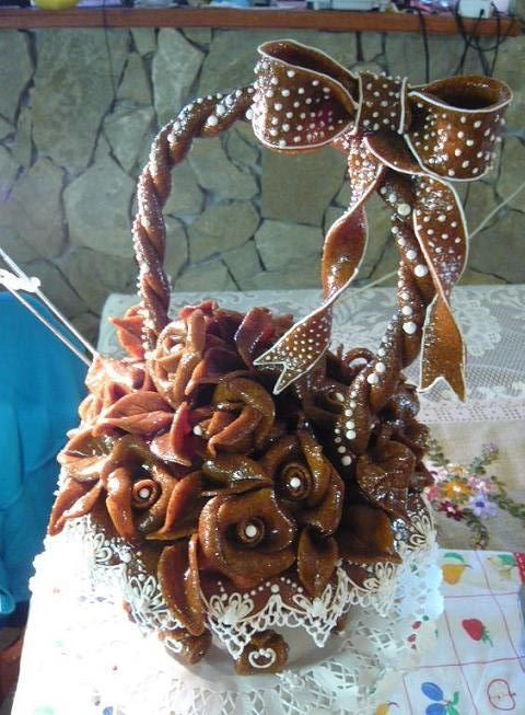 gingerbread flower basket