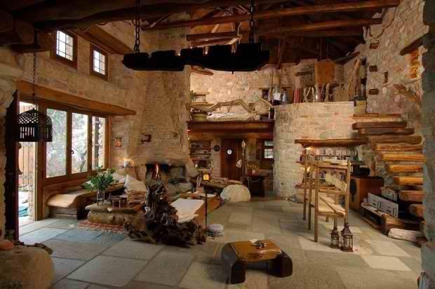 stunning mountain house with mezzanine floor