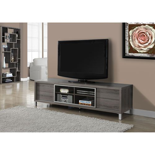 Taupe 70-Inch TV Console