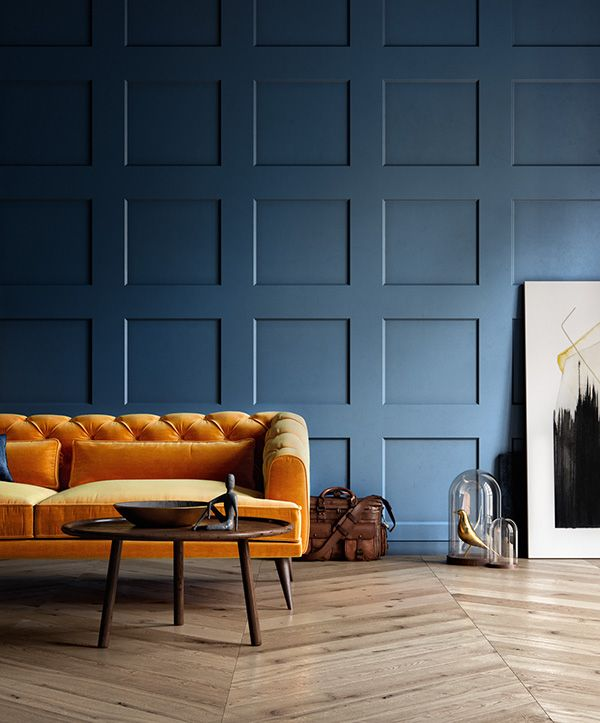 Pin By Stefanie Taylor On Interior Design Blue Living Room Living Room Orange Living Room Decor Modern #orange #sofa #in #living #room