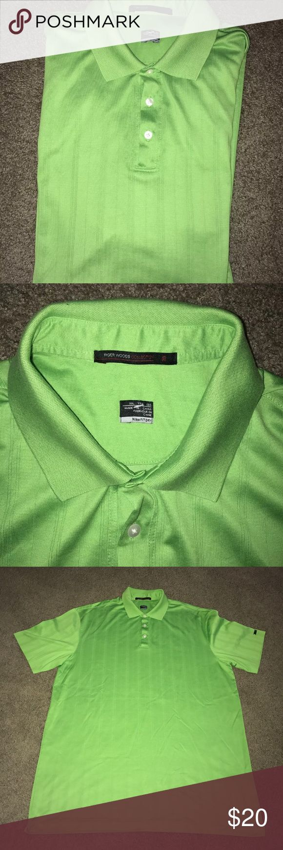 Tiger woods Nike XXL green polo shirt In excellent condition Nike Shirts Polos