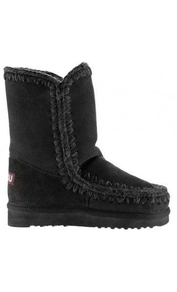 Mou Eskimo Short Boots Women Black #MOUBOOTS  moubootssale.com