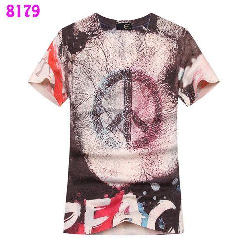 Hot V-neck digital printing Men T-shirts multiple styles