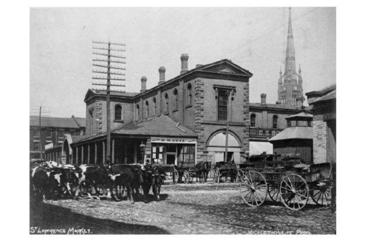The 1851 North Market is one of a number of buildings constructed on the property at Front and Jarvis Sts.