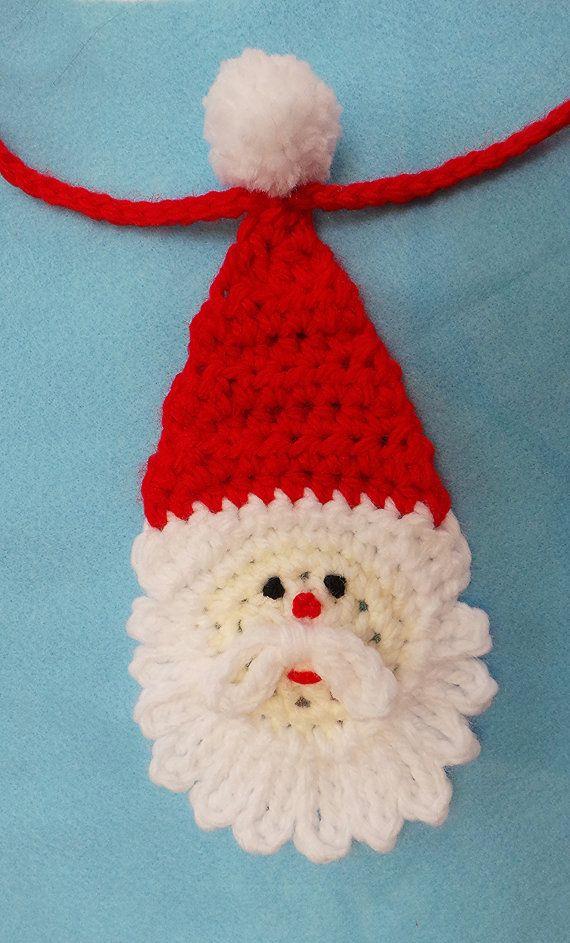 PATRÓN de CROCHET de NAVIDAD Santa empavesado por KerryJayneDesigns