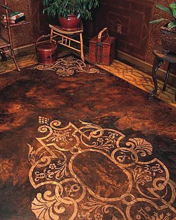 Paper Bag Floors On Concrete: 14 Best Stenciled Concrete Patio Floors Images On