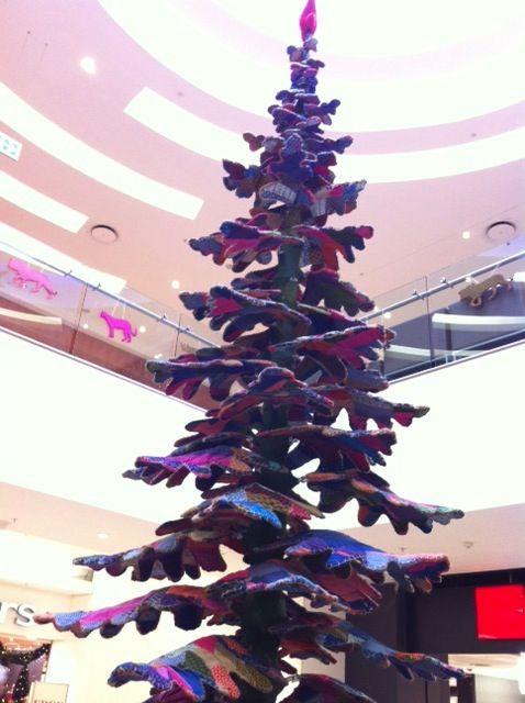 Shweshwe patchwork Christmas tree two storeys high!
