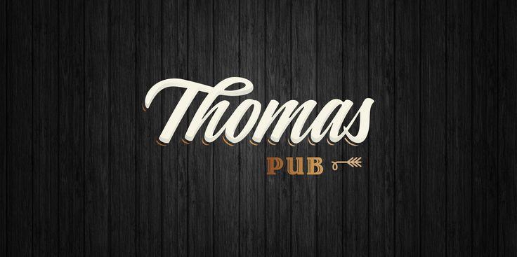 #graphicdesign #brandidentity #branding #logo #logotipo #sinalização #thomaspub #restaurantlogo #pub #bar #musendesign #designqueinspira #wood