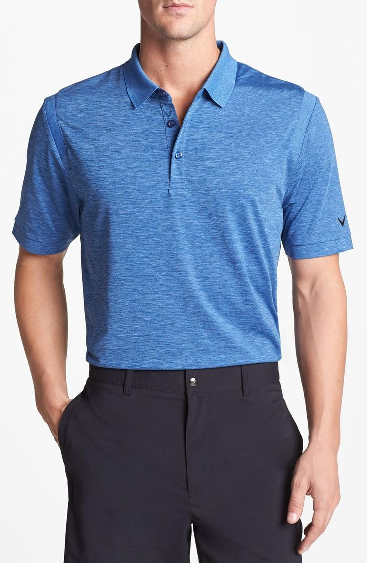 Callaway golf heathered polo mens golf shirt mens for Men s athletic polo shirts