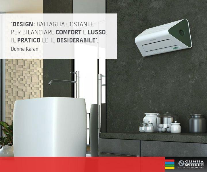 """Comfort e #design: questa è """"aria di casa""""  Scoprite Radical TWIN, con il pratico telecomando che ne permette l'attivazione a distanza! Design by Ercoli & Garlandini http://www.olimpiasplendid.it/riscaldamento-trattamento-aria/riscaldamento-casa/radical_twin"""