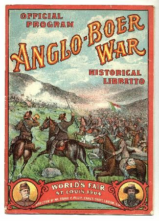 The Anglo-Boer War: 1899-1902  Boer- in Dutch- means farmer. This is the war in which the Afrikaners in Transvaal region (South Africa) were against the British from conquering the land for diamond and gold in 1899-1902.