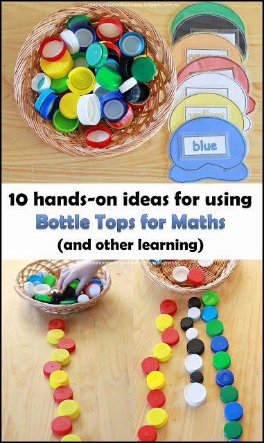 Suzie's Home Education Ideas: 10 ways to use bottle tops for maths