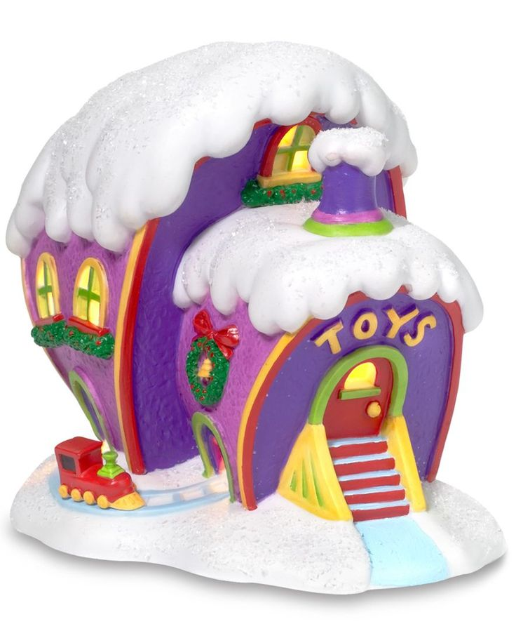 Department 56 Grinch Village Who-ville Toy Store Collectible Figurine