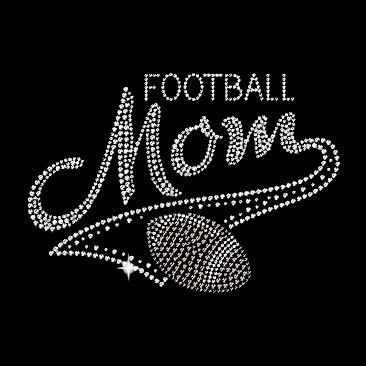 Best Job in the world! Football Mom Rhinestone T-Shirt ....On my Christmas list! #football #mom #rhinestones