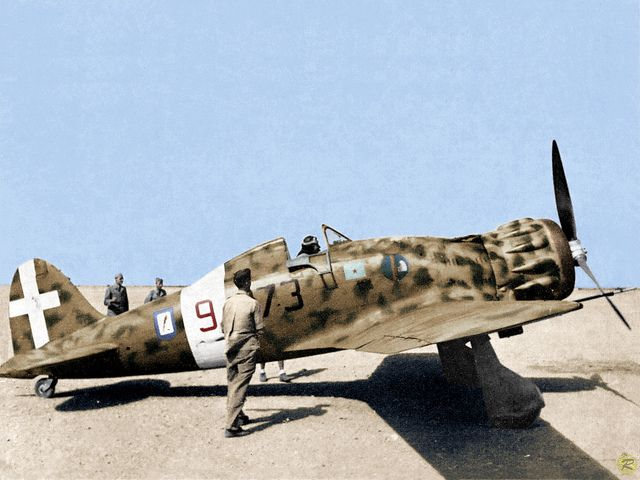 The Macchi C.200 Saetta ( Arrow) was a World War II fighter, fighter /bomber aircraft built by Aeronautica Macchi in Italy, and used in various forms throughout the Regia Aeronautica (Italian Air Force).