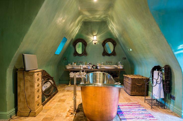 ванная комната медная ванна мансарда