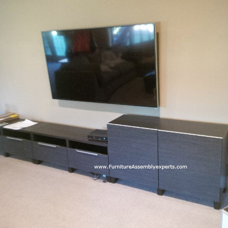 ikea besta tv stand unit combination assembled in vienna va by furniture assembly experts llc. Black Bedroom Furniture Sets. Home Design Ideas