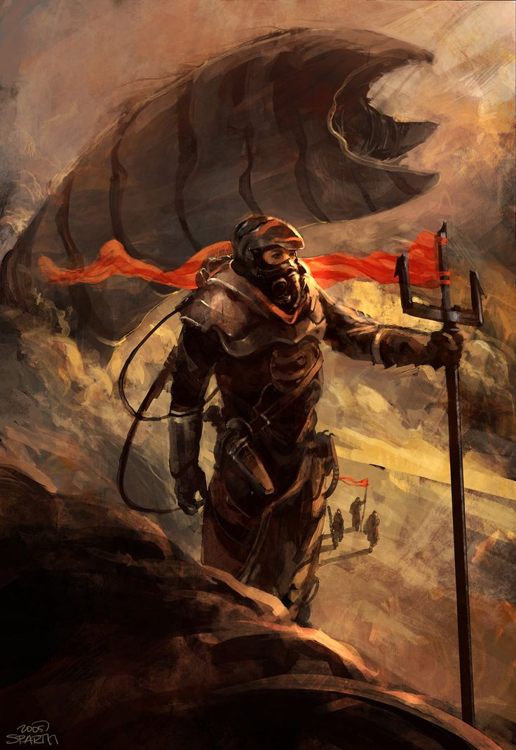 Dune book cover 2005, sparth - nicolas bouvier on ArtStation at https://www.artstation.com/artwork/dune-book-cover-2005