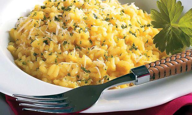 Deliciosa receita de Risoto de queijo e açafrão