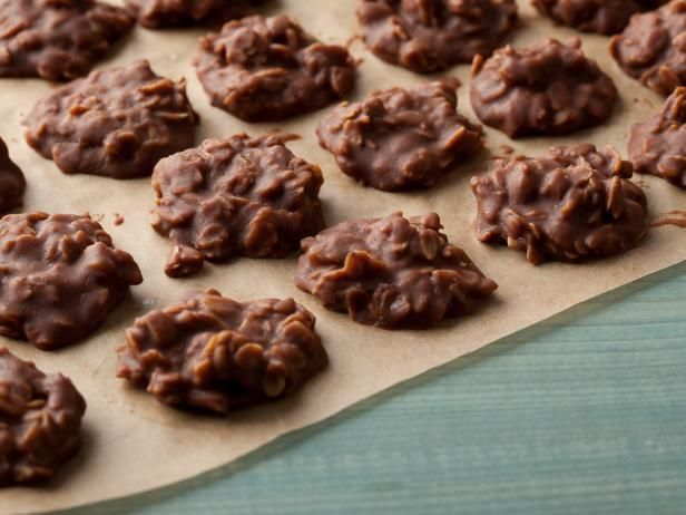Get Food Network Kitchen's Peanut Butter-Chocolate No-Bake Cookies Recipe from Food Network