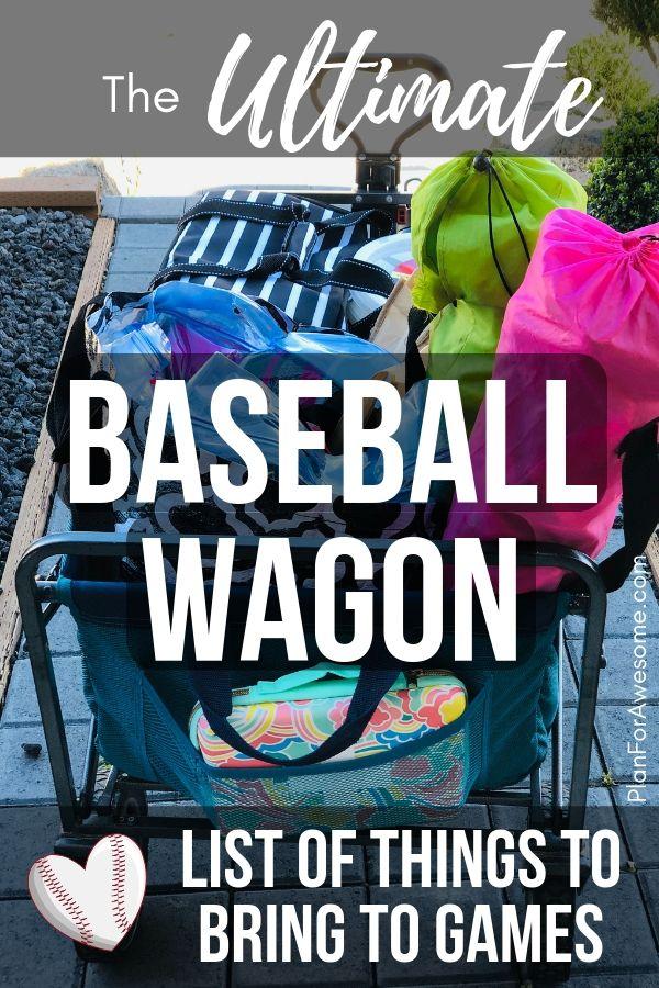 Baseball Mom Wagon The Ultimate List Of Things To Bring On Game Day Softball Mom Travel Baseball Baseball Mom
