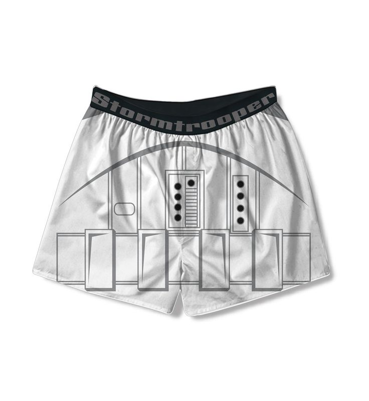 Do you love Star Wars but can't always express your obsession with the movie?  Well, now you can secretly express your love for Star Wars when you wear these officially-licensed Star Wars Stormtrooper Armour Print boxer shorts.   Even the Joe who works in an office every day and who is obsessed by Star Wars but has to wear a suit or a tie daily can now be confident in their love of Star Wars when they wear this pair of Star Wars underwear, Star Wars boxers.