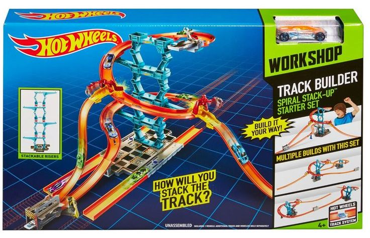 Competition to Win  Hot Wheels Track Builder Spiral Stack-up