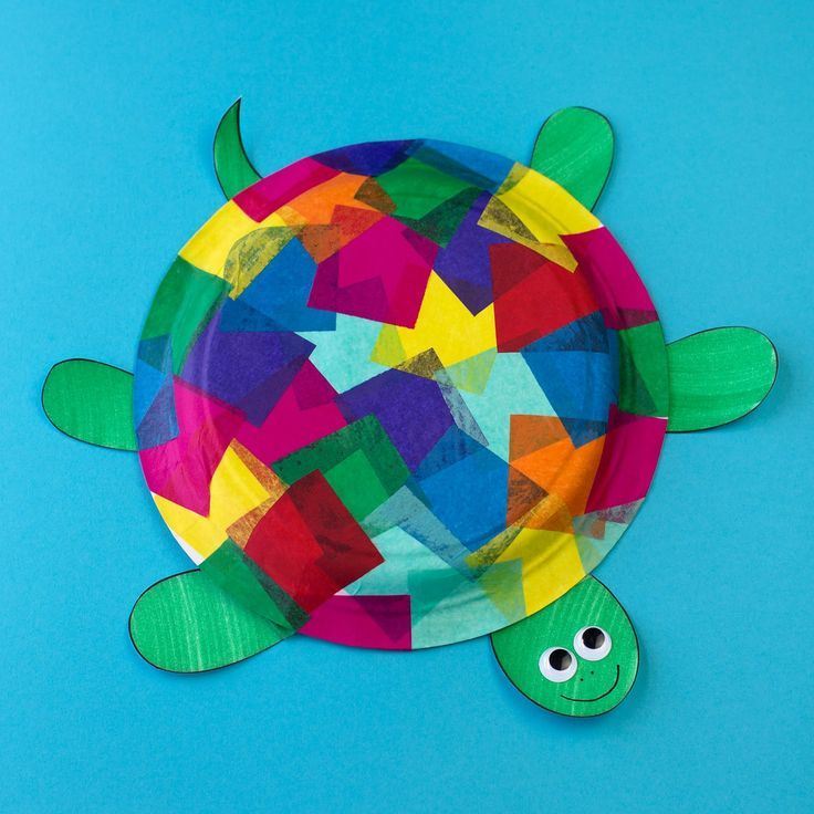 Tissue Paper And Paper Plate Turtle Craft Turtle Crafts Paper Plate Crafts For Kids Tissue Paper Crafts