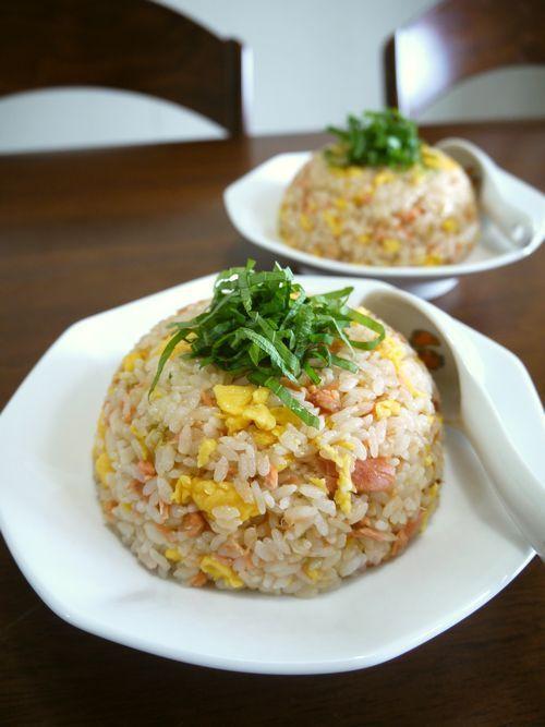 Salmon Fried Rice ふんわり炒り卵の鮭フレークで簡単炒飯