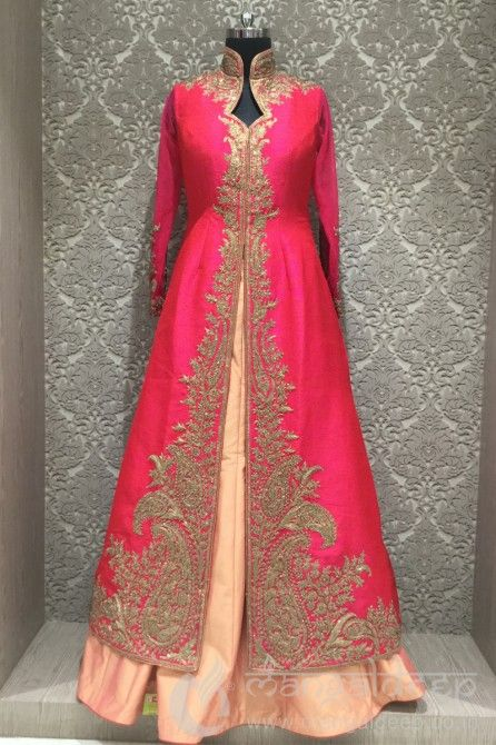 http://www.mangaldeep.co.in/lehengas/indo-western-lehengas/designer-hot-pink-raw-silk-partywear-readymade-indowestern-suit-8404 For more information :- Call us @ +919377222211 (Whatsapp Available) (y) :)