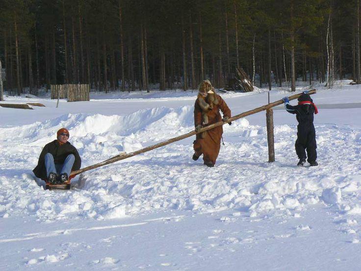 Kivikautista elämää esittelevä Kierikkikeskus Yli-Iissä Oulussa. Kierikki Stone Age Center in Yli-Ii, Oulu, Finland.