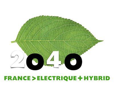 France 2040 electric & hybrid cars logo, logotype, logo design, ecology, green car logo, France 2040, green,