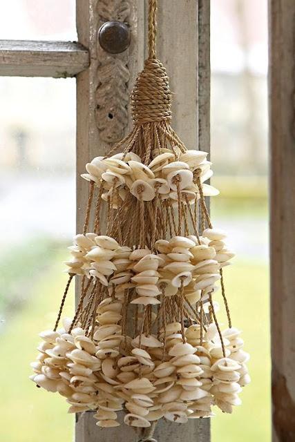 Borlas de conchas marinas   -   Seashells tassel
