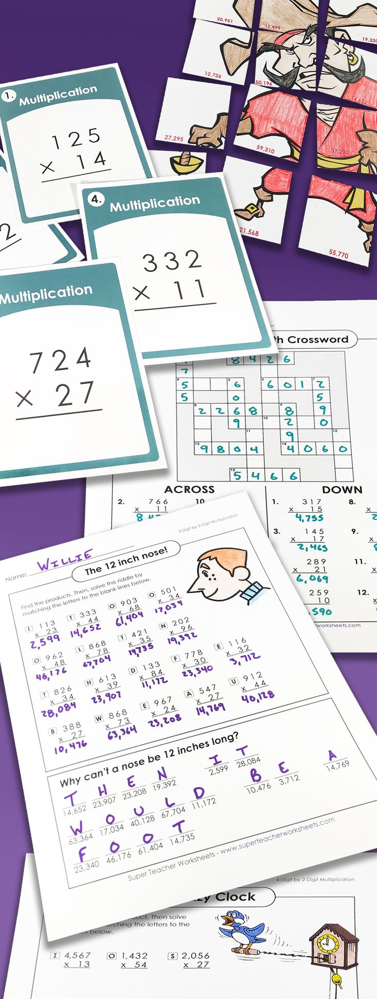 Check out the SuperTeacherWorksheets collection of