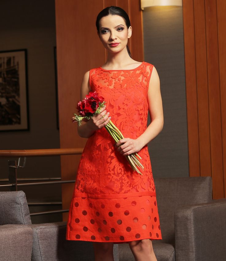 Red organza YOKKO | ss16  #organza #red #dress #party #garden #outtfit #fashion #yokko