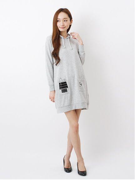 注目のスヌーピー♡春夏のファッションアイテム パーカーワンピのコーデアイデアを集めました♡