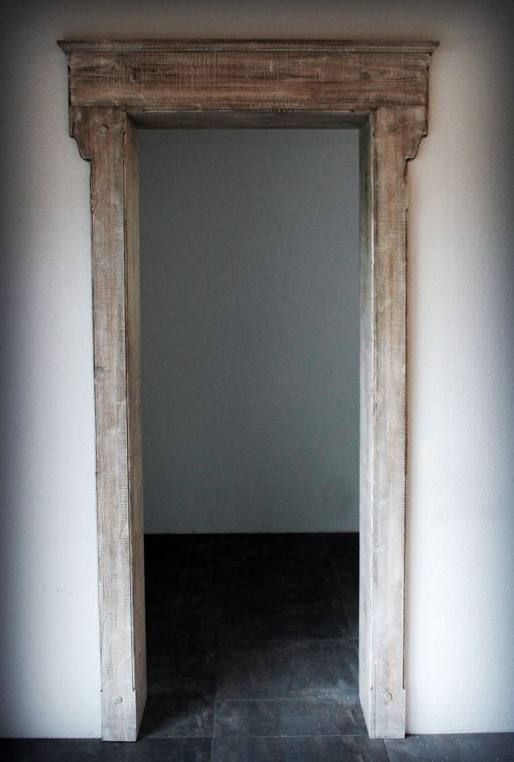 Panted Portal made from pine wood
