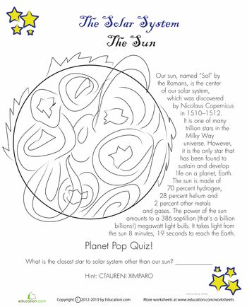 Planet Earth Worksheets Science Solar Systemstudy Of Earth