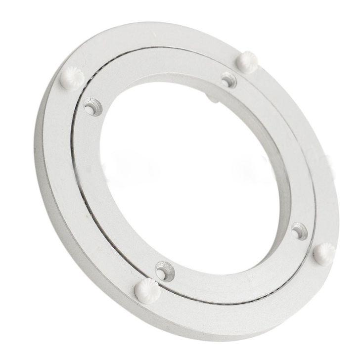 Cojinete giratorio de la Placa Giratoria Placa Giratoria de 5 Pulgadas de Plata de aluminio