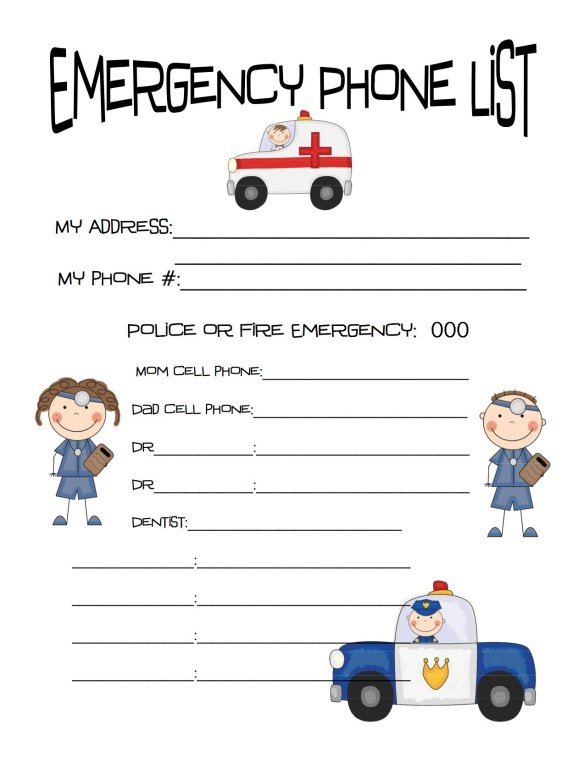 On The Blog At Printable Emergency