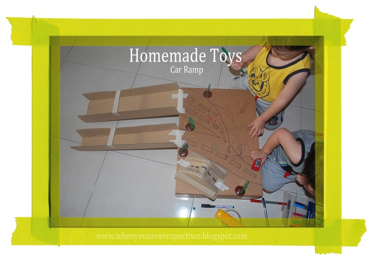 When You Never Expect Two: Homemade Toys - Car Ramp