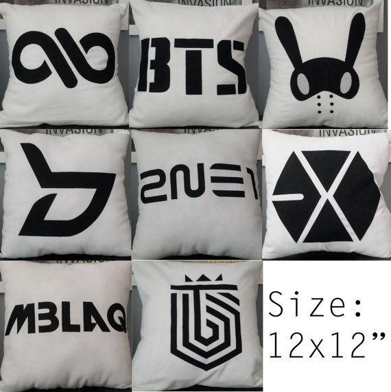 K-Pop Pillow 2ne1 B.A.P Block B BTS Exo Infinite Mblaq Topp Dogg [OPTION 2] --- GRUPOS SUPER COOL el k-pop es lo  mas padre q me pudo ocurrir xd.. amo el k-pop y amis idolos  xddd... :'v