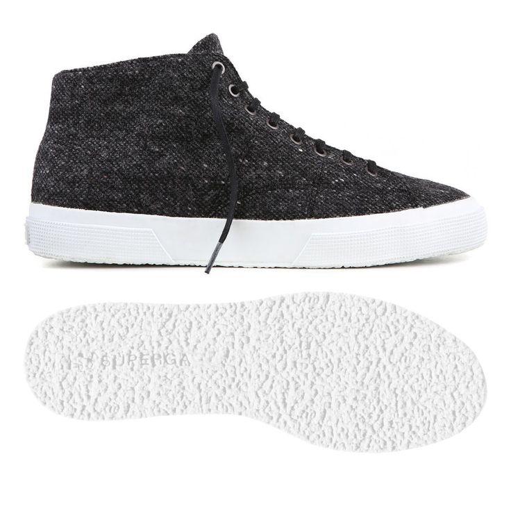 Superga Sneaker Scarpe 2795 COTU BIANCO MONOCHROME WHITE Mid Cut Tg. 36