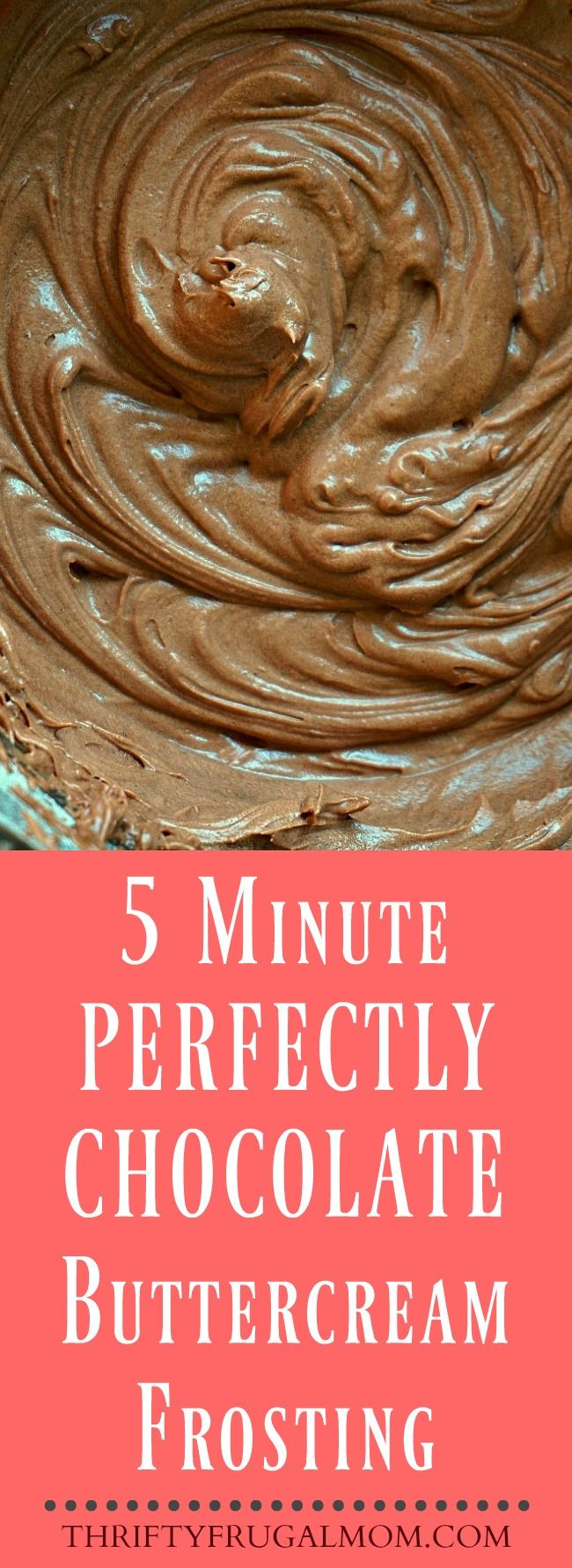 This easy chocolate buttercream frosting recipe is the best! It takes just 5 minutes to make and is the perfect amount of rich chocolate flavor.