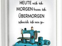 Kunstdruck A4 Nähen Nähmaschine