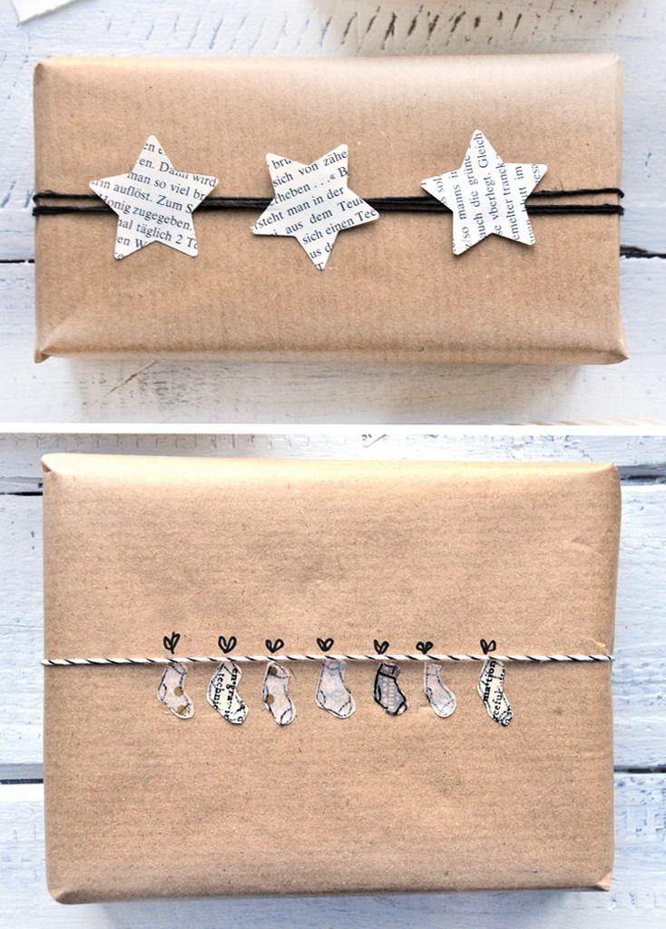 DIY - 9 schöne Verpackungen für Geschenke mit Packpapier - 9 beautiful gift…