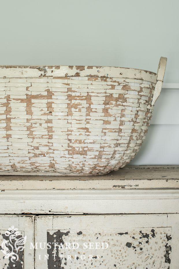 miss mustard seed | white splint basket