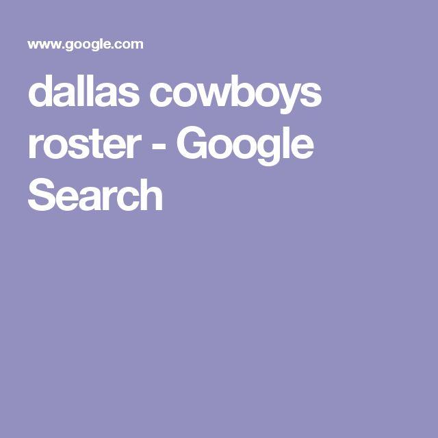 dallas cowboys roster - Google Search