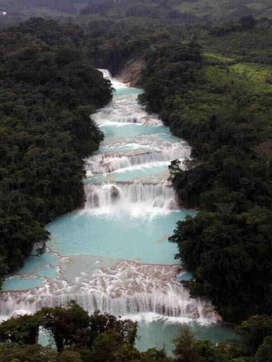 Blue Waterfalls, Mexico