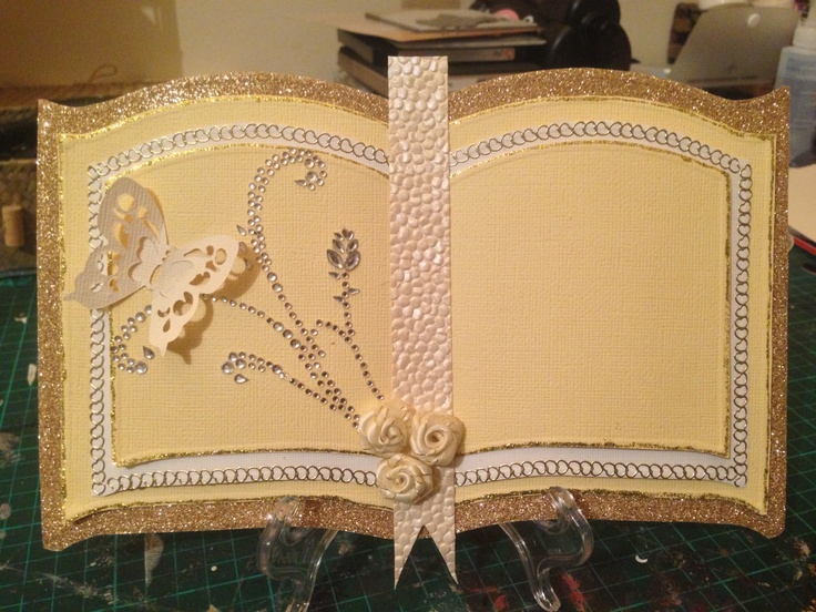 Books On Card Making Part - 26: Bookatrix Open Book Card